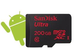 SanDisk microSDXC Ultra Android 200 GB + SD Adapter + Memory Zone Android App 90 MB/s Class 10 (139700) - 1