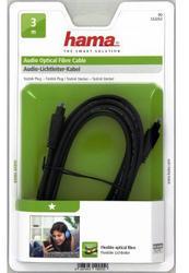 HAMA optický audio kabel ODT, Toslink vidlice-vidlice, 1*, 3 m (122252) - 2