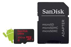 SanDisk microSDXC Ultra Android 200 GB + SD Adapter + Memory Zone Android App 90 MB/s Class 10 (139700) - 2