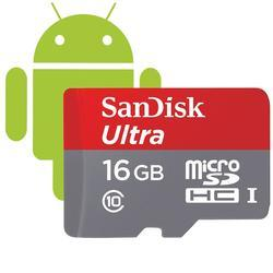SanDisk microSDHC Ultra Android 16GB (139726) 80 MB/s Class10 + Adapter - 2