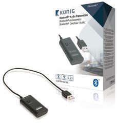 König CSBTTRNSM100 Audio prijímač Advanced Bluetooth SPDIF čierna - 2