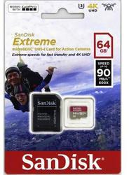 SanDisk microSDXC Extreme 64GB (173361) 90 MB / s Class 10 UHS-I V30, Adapter, pre akčné kamery - 3