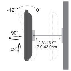 """STELL SHO 2050 slim držák LCD 23-42"""" - 3"""