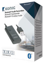 König CSBTTRNSM100 Audio prijímač Advanced Bluetooth SPDIF čierna - 4