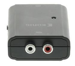 König KNACO2504 převodník digitálního audia 1x Toslink zásuvka + 1x SPDIF (RCA) zásuvka - 2x RCA zásuvka - 4